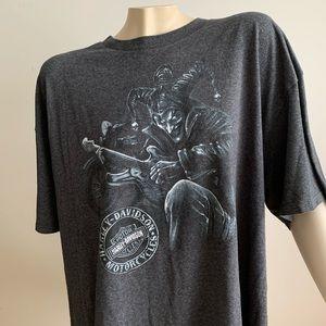 Grey Harley Davidson graphic top